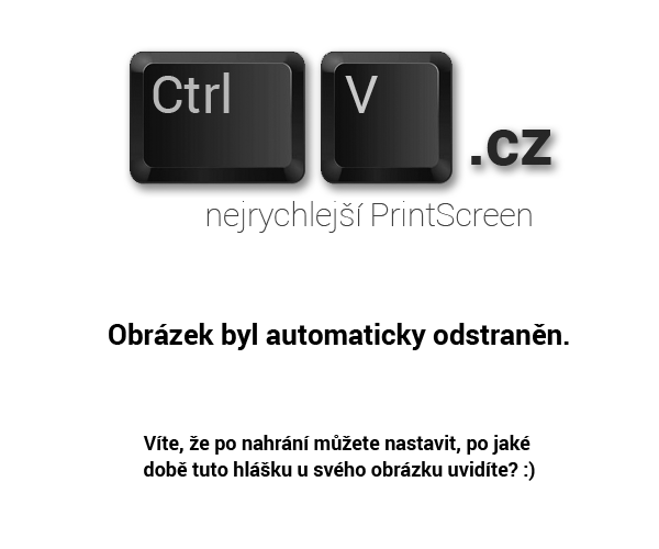 Odeslan screenshot obrzek
